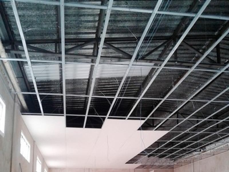 Instalação de Forro de Gesso com Cortineiro Vila Prudente - Forro de Gesso com Led